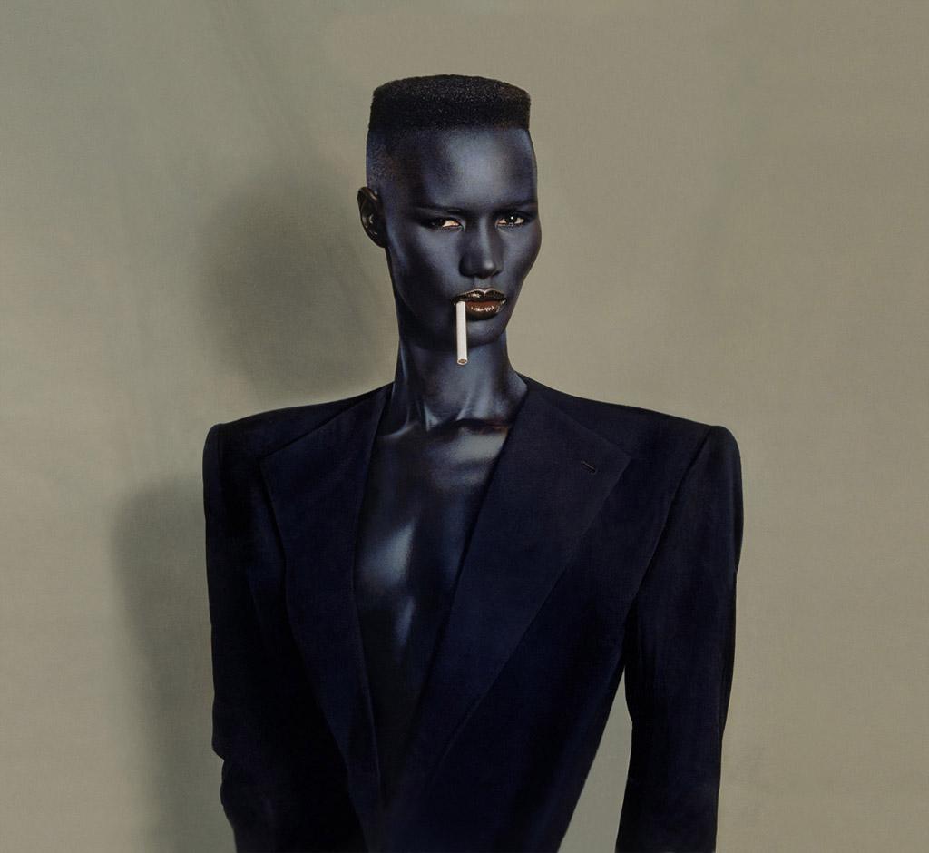 Blue-black in black on grey, New York, 1981 © Jean-Paul Goude