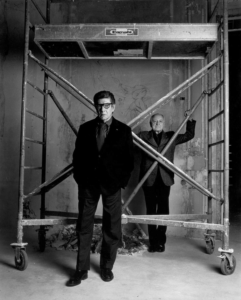 Yves Saint Laurent et Pierre Bergé © Patrick Demarchelier, 2004